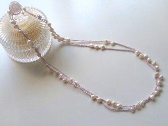 【春】淡水パールのロングネックレスの画像