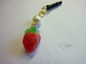 イチゴのイヤホンジャックの画像