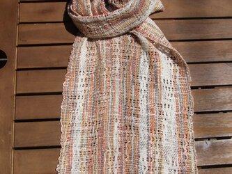 綟り織りのショール Aの画像