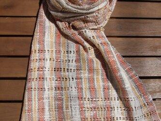 綟り織りのショール Bの画像