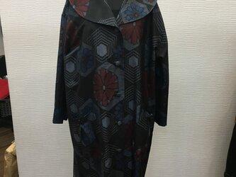 大衿コート (着物リメイク)(大島)の画像