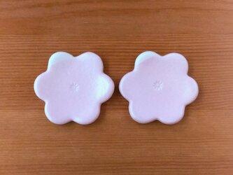 花型の箸置き2個セット(桜色)の画像