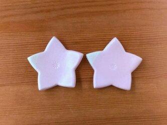 桔梗型の箸置き2個セット(桜色)の画像
