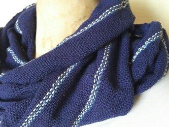 手織りシルクロングストール 335の画像