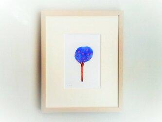 「春を待つ時」イラスト原画/額縁入りの画像