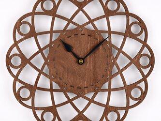 木の壁掛け時計F 惑星(木製ウォールクロック)の画像