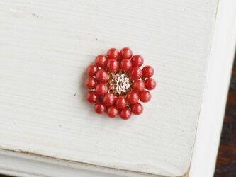 【赤珊瑚・ブローチ】アンティークレトロ・還暦祝いや母の日にも人気の画像