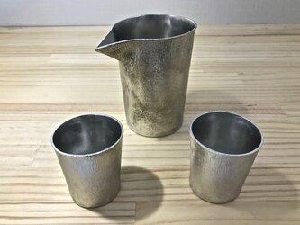 錫製 片口,ぐい呑(2個)の3点セットの画像