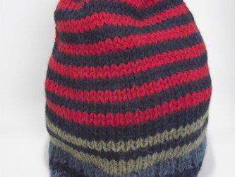 アルパカ・ウールのニット帽子。の画像