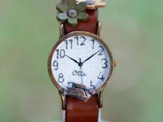 羽ばたこうとする鳥腕時計M クリアの画像
