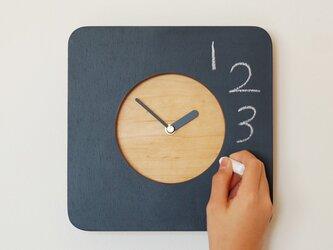 黒板の時計 ミニの画像
