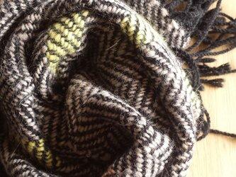 【手織り】カシミヤ×ウールミニストールの画像