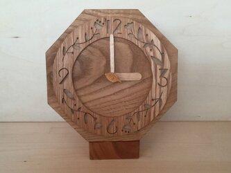 【受注制作】モリクマ・cafe時計1の画像