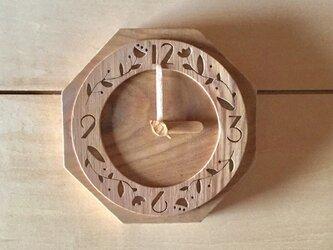 【受注制作】モリクマ・cafe時計3壁掛けの画像