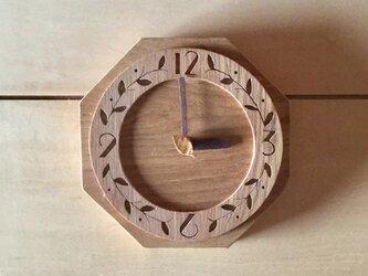 【受注制作】モリクマ・cafe時計4壁掛けの画像