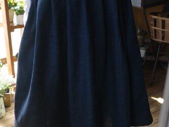 正絹100亀甲柄のワンピースの画像