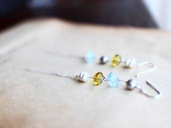 aquamarine*greenamber*silverpierceの画像