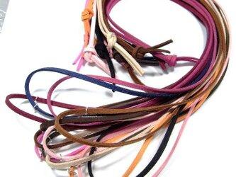スエード合皮製◆カラフルロングネックレス 90cm 13カラー◆lalalady-113の画像