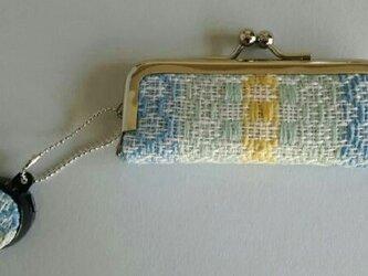 手織り印鑑ケース ブルーの画像