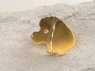 ドネーションジュエリー◇Toy Poodle Face◇真鍮ピンズの画像