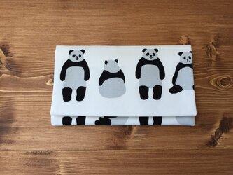 懐紙、通帳いれ Panda whiteの画像