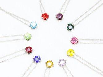 キラキラ1カラーネックレスの画像