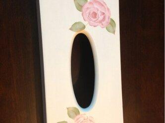 アンティーク ローズ ティッシュケースの画像