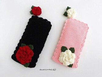 薔薇の縦型ペンケースの画像
