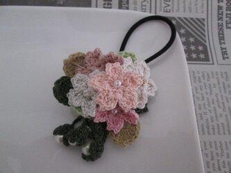 桜ヘアゴムの画像