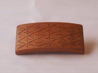 #6 チップカービングバレッタ 【木工彫刻】の画像
