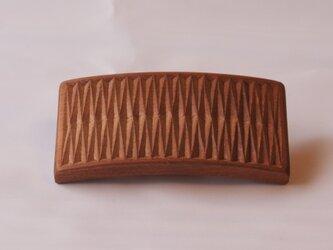 #8 チップカービングバレッタ 【木工彫刻】の画像