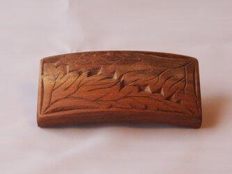 #9 チップカービングバレッタ 【木工彫刻】の画像