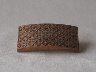 #12 チップカービングバレッタ 【木工彫刻】(同じ柄のものが出品されました!!)の画像
