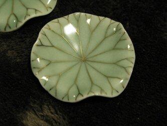 箸置き、蓮の葉の画像
