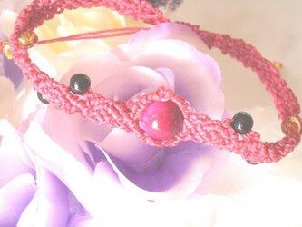 ピンクタイガーアイローズブレスレットの画像