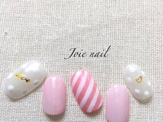 ポップなピンクネイル♪の画像