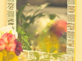 ガラスタイルミラー/yellowの画像