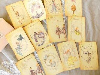 12の誕生石ポストカード集の画像