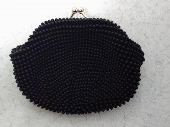 [オーダー品]ビーズ編みがま口 黒色の画像