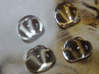 ちび猫足ペーパーウェイト /ガラスの画像