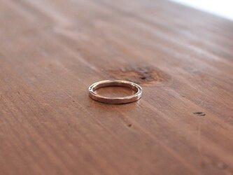 桃色銀槌目細指輪 rr-74の画像