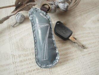 №7 ラッキーナンバーキーホルダー グレイ×大理石の画像