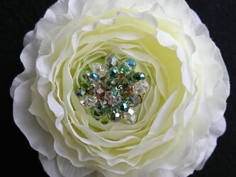 corsage(white green)の画像