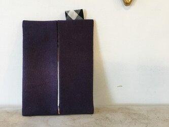 シックなムラサキのポケットティッシュ入れ(226)の画像