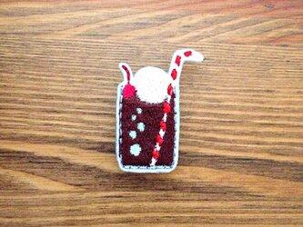 刺繍ブローチ 「コーラフロート」の画像