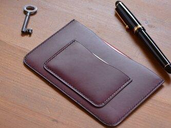 カードポケット付き通帳ケース カラーオーダー の画像