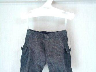 ダッフィーお洋服 カーゴパンツ(濃紺)の画像