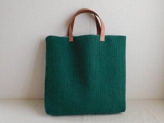 裂き織りバッグ グリーンの画像
