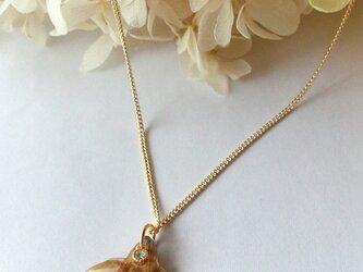 本物のお花 桜のネックレスの画像