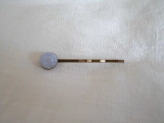 ブルーレースアゲートの小さなヘアピンの画像